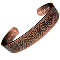 Magnetic Copper Bracelet With Celtic Knot Design - Large Size
