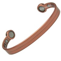 Plain Copper Bio Magnetic Bracelet For Stress Arthritis Pain Relief- Medium Size