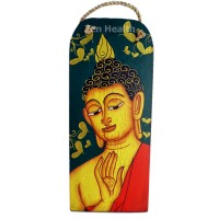 Decorations - Buddha Hand-Painted Wall Hanging Indoor Plaque